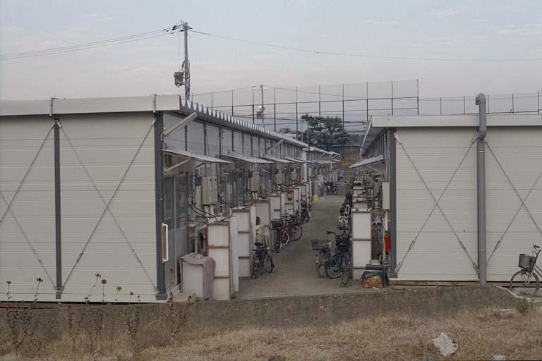 神戸市民球場内の西代仮設住宅