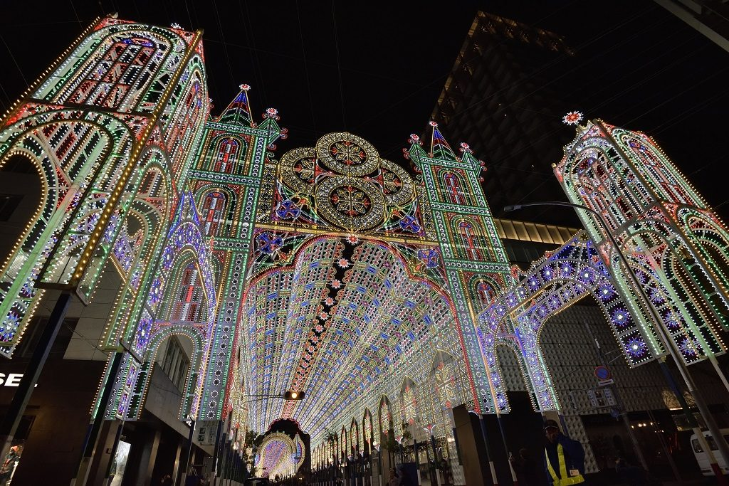 神戸ルミナリエ消灯式