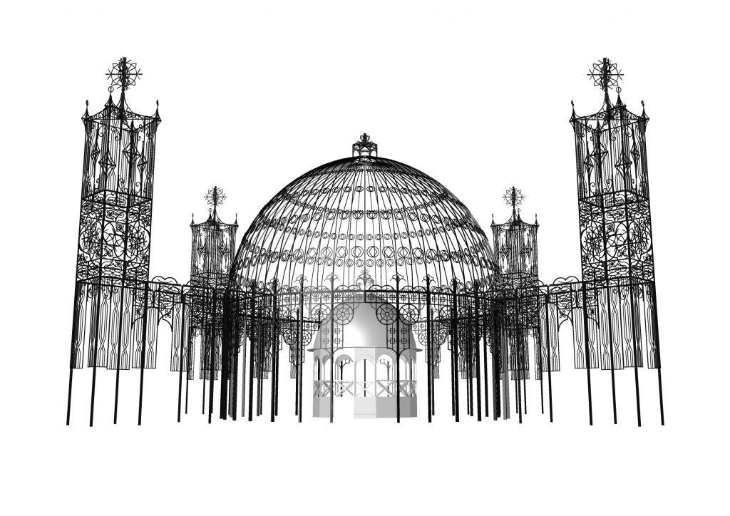 高さ約21m、ルミナリエ史上最大級のドームを設置!
