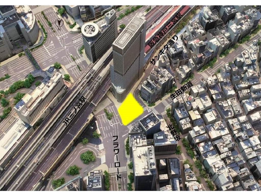 アモーレ広場周辺状況立体模型写真