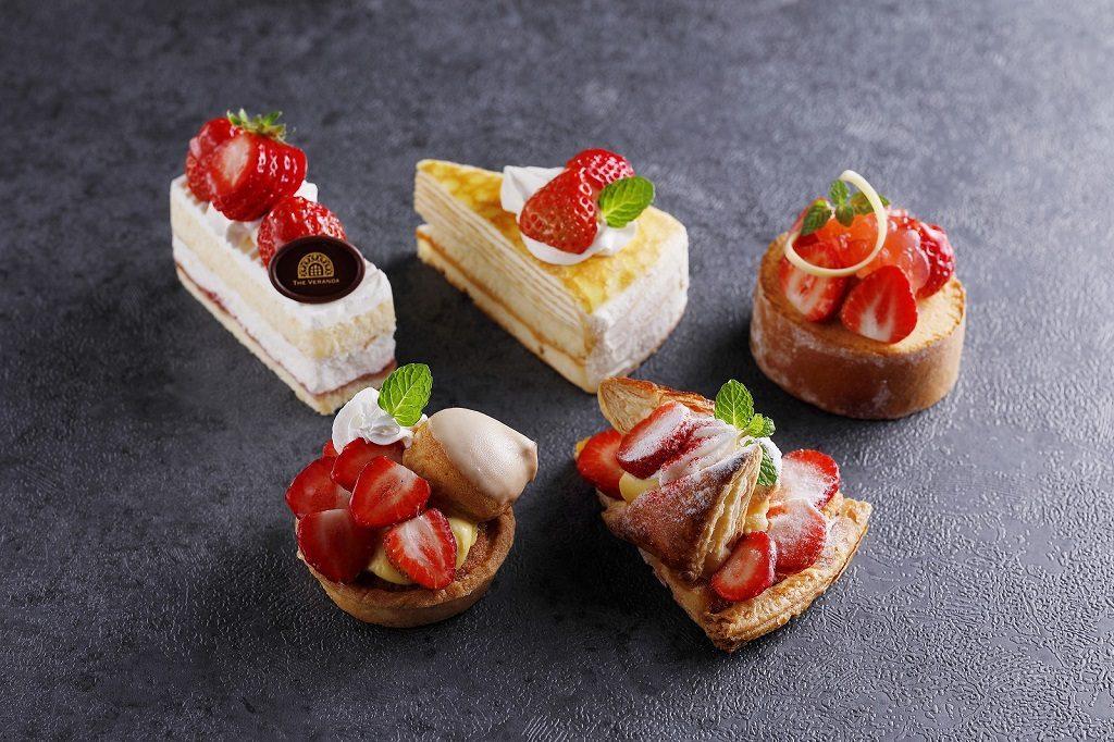 苺を使ったケーキ各種